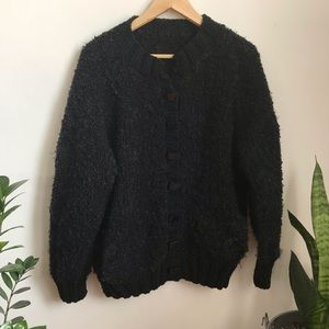 Sweaters - Vintage Handmade Knit Bulky Cardigan